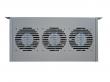 """Фотография Модуль вентиляторный 19"""" 1U, 3 вентилятора, с термодатчиком регу"""