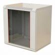 Шкаф телекомм. настенный 12U (600x300) дверь стекло